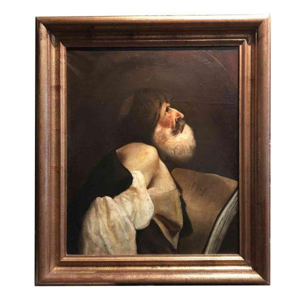 San Giacomo Dipinto Antico Religioso della fine del 1800