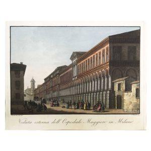Veduta dell'Ospedale Maggiore in Milano del 1820-21