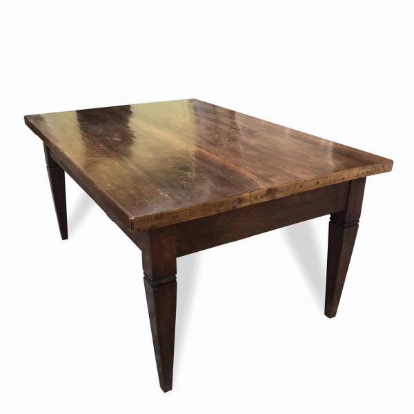 19th Century French Solid Walnut Table Rectangular Louis XVI Style