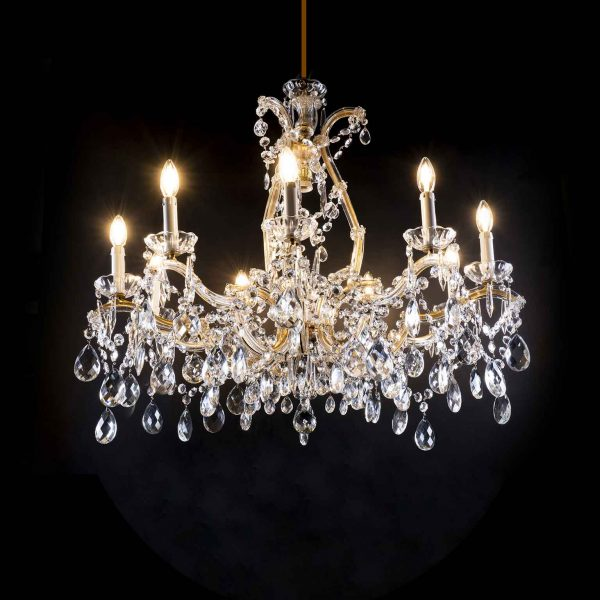 20th Century Italian  Maria Theresa Ten-light Crystal Chandelier
