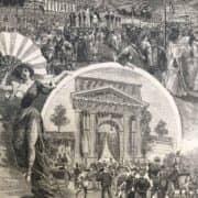 Stampa Antica dell'Arena di Milano nel 1897 b