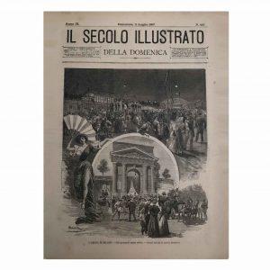 Stampa Antica dell'Arena di Milano nel 1897