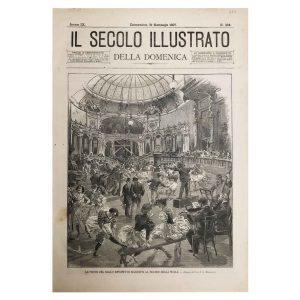 Stampa Antica del Ballo Sport di Manzotti al Teatro della Scala nel 1897