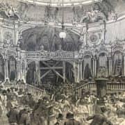 Stampa Antica del Ballo Sport di Manzotti al Teatro della Scala nel 1897 b