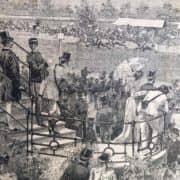 Le Grandi Corse all'Ippodromo di San Siro in Milano dal Secolo Illustrato del 1892