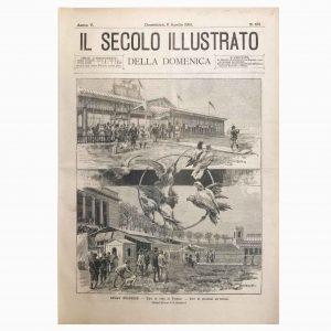Stampa Antica sul Tiro al Volo e sul Tiro al Piccione del 1893