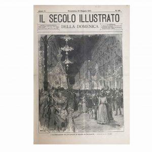 Stampa antica di via Dante a Milano nel 1893