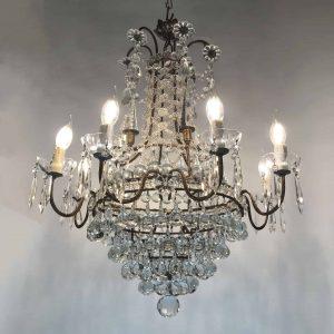 lampadario di lussoBronzo-e-cristallo-9
