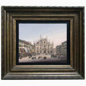 Micromosaico con il Duomo di Milano