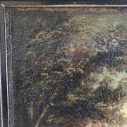 Paesaggio Fluviale con Ponte e Rovine Inizi 1800 3