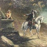 Paesaggio Fluviale con Ponte e Rovine Inizi 1800 4