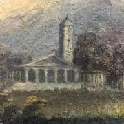 Paesaggio Fluviale con Ponte e Rovine Inizi 1800 5