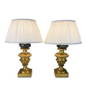 Coppia di lampade da tavolo antiche