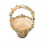 cestello ceramica decorata traforata a