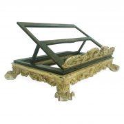 leggio da tavolo girevole in legno ebanizzato e oro 1700