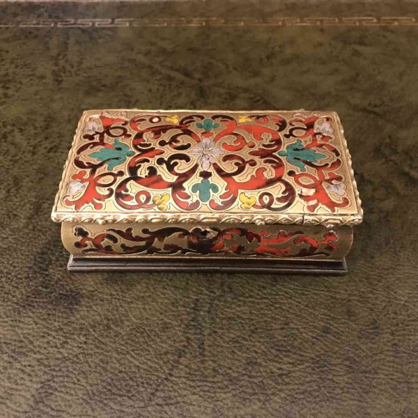 19th Century French Boulle Marquetry Jewelry Box