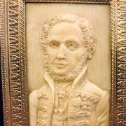 coppia di ritratti in bassorilievo d'avorio 1800 d