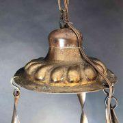 lampada votiva in rame sbalzato d