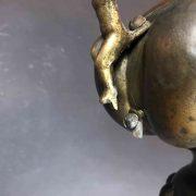 lampada votiva in rame sbalzato h