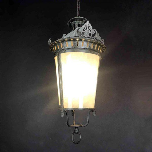 Lanterna Tonda  Metallo Zincato