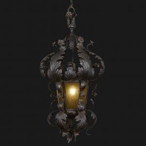 lanterna in ferro sbalzato q