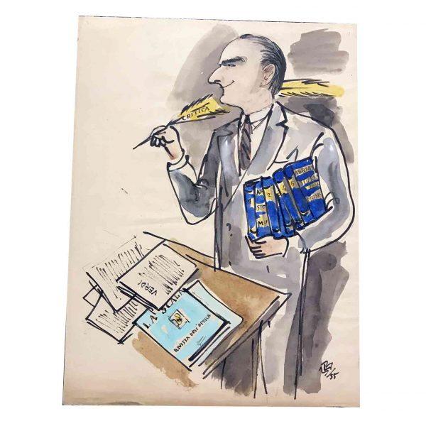 Mario Vellani Marchi il Critico Abbiati 1955