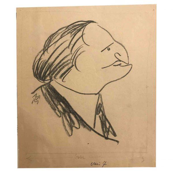 Mario Vellani Marchi caricatura di Ettore Petrolini 1930 circa