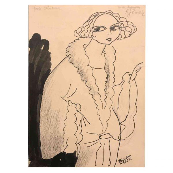 Mario Vellani Marchi Caricatura di Mimi Aylmer 1930 circa