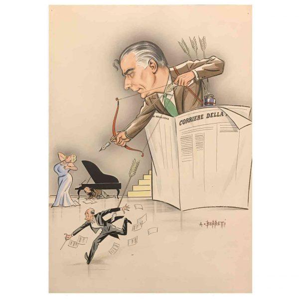 Alessandro Berretti caricatura di Franco Abbiati