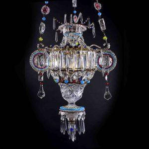 lanterna in cristallo marchigiana inizi 1900 a