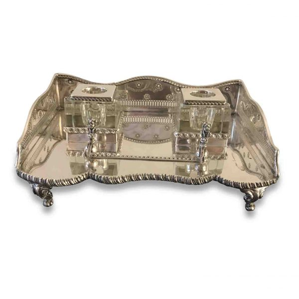 20th Century English Silver Inkstand