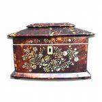tea caddy scatola regency in tartaruga