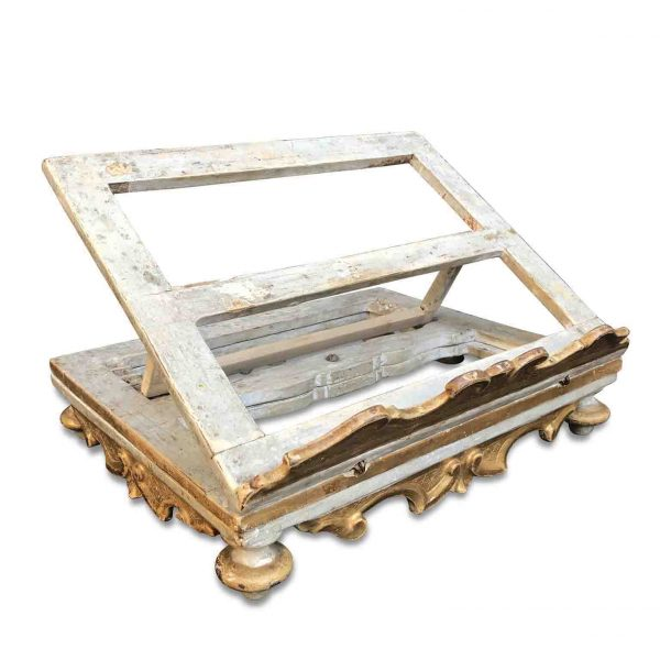 Late 18th Century Italian Carved Gilt-wood Turning Bookstand from Marche