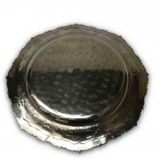 centrotavola vassoio tondo in argento XX secolo a