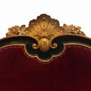 divano antico lacca e oro sicilia a