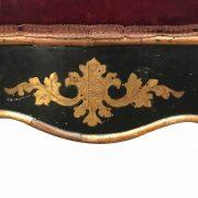 poltrona siciliana antica laccata e dorata 1800 e