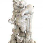 centrotavola con palma e personaggi ceramica d'este c