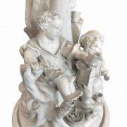 centrotavola con palma e personaggi ceramica d'este b