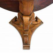 tavolo tondo antico a vela impiallacciato in noce della fine del 1800 b