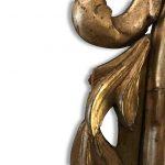 specchiera dorata piemontese del settecento a