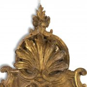 specchiera intagliata e dorata con specchio al mercurio 1700 a