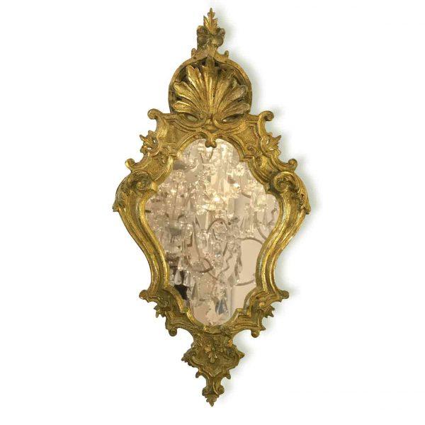 Specchiera Luigi XV Intagliata e Dorata