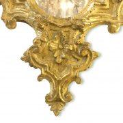 specchiera intagliata e dorata con specchio al mercurio 1700 b