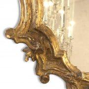 specchiera intagliata e dorata con specchio al mercurio 1700 d