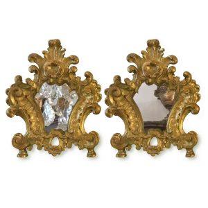 coppia di cartagloria dorate luigi XV