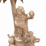 centrotavola antico con nani festanti ceramica d'este l