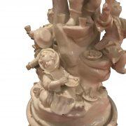centrotavola antico con nani festanti ceramica d'este h