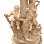 centrotavola antico con nani festanti ceramica d'este g