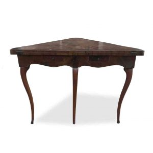tavolo da gioco angolare in palissandro
