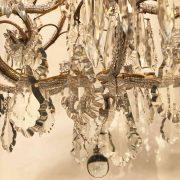 lampadario in cristallo e perline a nove luci b